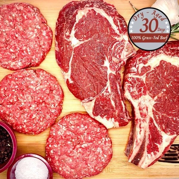 Organic beef, barbecue platter