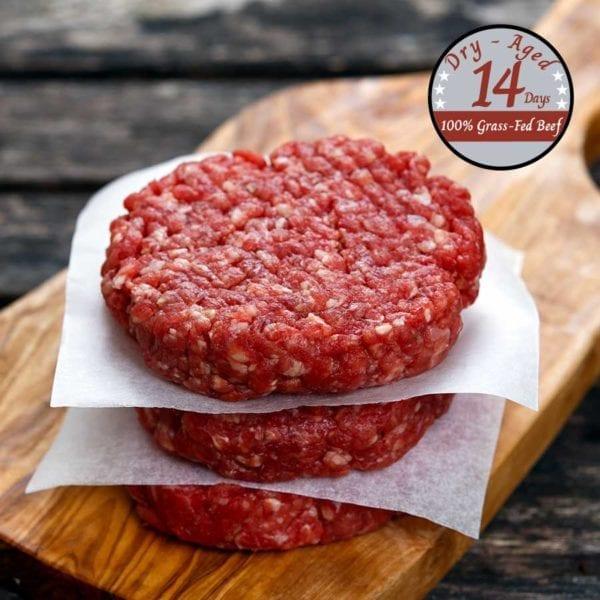 Organic ground beef patties