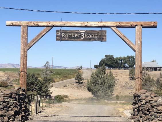 Oregon beef, Rocker 3 Ranch entrance in Madras, OR